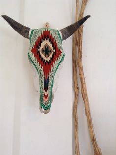 Bull Skull Wall Decor boho cow skullmountainstotheseaco on etsy | romanticized