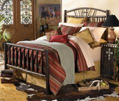 striped bedding to go with navajo rugs... of course I would like something from crows nest!! I need to win a couple million soon!
