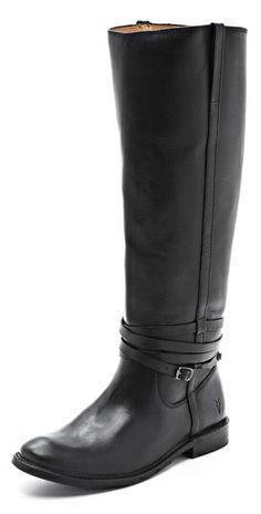 Frye Shirley Tall Riding Boots - Maybe not so practical for RIDING - with all that strappage. But really spiffy.