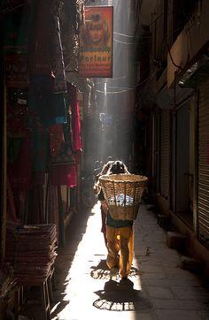Back street . Kathmandu Nepal