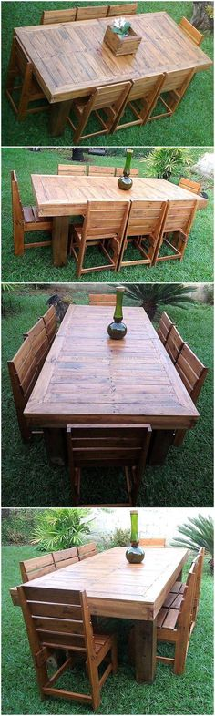 pallet garden dining set
