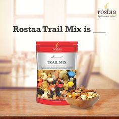 Describe the taste of Rostaa Trail Mix in just one word and get a 15% off discount code for http://rostaa.com