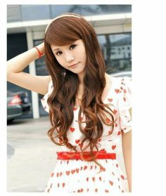 Women&Girls' Fashion Sexy Long Curl Curly Full Wavy Hair Wig 3 Colors Available