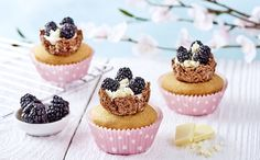 Easter Nest Blackberry Cupcakes