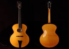 Koentopp guitars Front and Back of 2015 Chicagoan Oval Hole