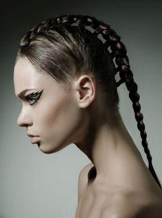 (hair,make-up,girl,nice,beautiful. Summer Hairstyles, Braided Hairstyles, Cool Hairstyles, Hair Photography, Editorial Hair, Fantasy Hair, Hair Shows, Hair Reference, Creative Hairstyles