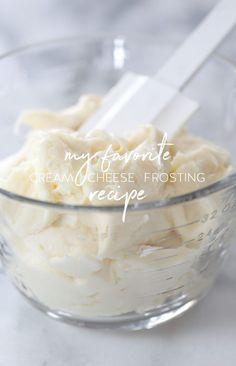 My Favorite Cream Cheese Frosting recipe | inspiredbycharm.com