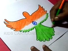 How to Draw Independence day Greeting Step by Step / august Greeting / Indian Flag designs /Parrot / Parrot Painting Poster On Independence Day, Independence Day Drawing, Independence Day Activities, 15 August Independence Day, Independence Day Greetings, Independence Day Wallpaper, Independence Day Decoration, Indian Independence Day, Independence Day Images