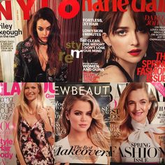 traceycunningham1 I #love seeing all my clients on the covers of magazines @glamourmag @marieclairemag @newbeauty @harpersbazaarus @nylonmag #march #girlboss @redken5thave color and @olaplex #olaplex