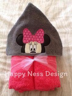 Girl Mouse Hooded Towels, Big Kids, Beanie, Handmade, Design, Hand Made, Child, Beanies, Design Comics