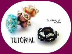 Tutorial Pandorina UFO con Strass/ Chaton, Perline Delica e Rocailles - Beaded bead