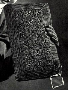 ao with <3 / Isn´t it GREAT? / The Rectangle Bag crochet pattern from Hiawatha Corde Bags, originally published by Heirloom Needlework Guild, Book No. 11 in 1945.