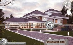 Indian Simple Home Front Design with 2 Story Small House Plans Designs Having Single Floor, 4 Total Bedroom, 5 Total Bathroom, and Ground Floor Area is 4393 sq ft, Hence Total Area is 4573 sq ft House Arch Design, Simple House Design, Bungalow House Design, House Plans With Pictures, House Design Pictures, Free House Plans, Simple House Plans, Best Small House Designs, Affordable House Plans