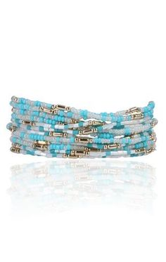 Multi color seed bead bracelet