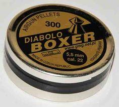 śrut 5,5mm diabolo boxer ostry rewolwer wiatrówka