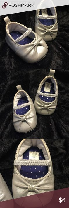 Silver ballerina newborn shoes Newborn shoes, very cute, silver ballerina style and in new condition. Never walked on 😂 Carter's Shoes Baby & Walker