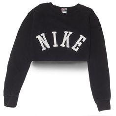 Nike Big Logo Crop Top Medium Perennial Merchants ($30) ❤ liked on Polyvore featuring nike