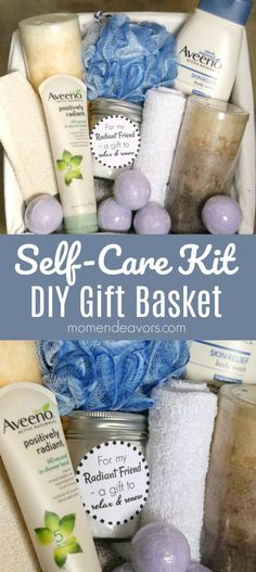 DIY Self Care Kit Bath Gift Basket