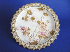 Doulton Burslem Hand Painted Aesthetic Movement Cabinet Plate c1891