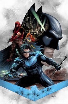 Drawing Dc Comics Nightwing Comic Issue 55 Limited Variant First Print 2019 Lobdell Nicieza DC - Arte Dc Comics, Dc Comics Superheroes, Dc Comics Characters, Nightwing, Batgirl, Batwoman, Character Drawing, Comic Character, Comic Books Art