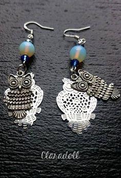 """Boucles d'oreilles crochets argent 925 """"Owlies"""""""