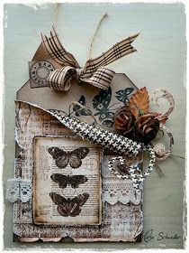 tag has several nice combinations and techniques: label pocket kaartje Card Tags, Gift Tags, Etiquette Vintage, Shabby Chic Cards, Butterfly Cards, Vintage Butterfly, Handmade Tags, Paper Tags, Artist Trading Cards