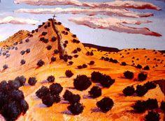 """Galisteo Ridgeback"" Oil on canvas, 1983, (Sold) Polly Jackson"