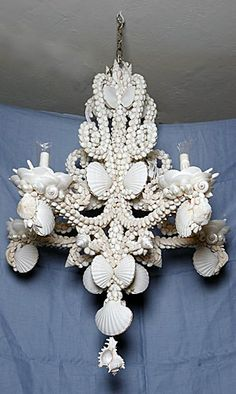 Shell Chandelier $5900.  Christa W. Palm Beach
