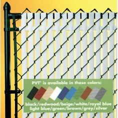 Chain Link Privacy Slats - Affordable Inserts for Your Fence. This would be great on the fence next to the gully. Privacy Landscaping, Patio Privacy, Privacy Fences, Chain Link Fence Privacy, Chain Fence, Fence Weaving, D House, My Pool, Fence Gate