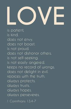 Structure for your life, love life or otherwise. I'm not really religious but Jesus did understand the mentality of love