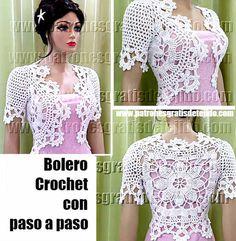 Bolero Maravilloso a Crochet / Aprende a tejer | Crochet y Dos agujas - Patrones de tejido