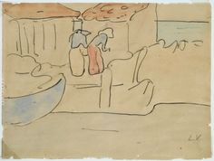 """Fishing at Arcachon"" (sketch), 1896,  Louis Valtat"