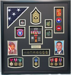 Military Memories and More - US Army Recruiter Shadow Box, Contact Us For Your Own (309) 289-0099 (http://www.militarymemoriesandmore.com/us-army-recruiter-shadow-box/)