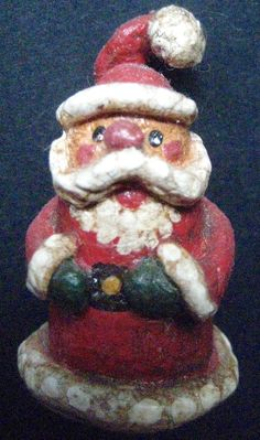 Primitive  Santa-Miniature Folk Art Santa-Original by FolkArtWorks
