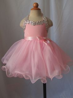 Infant/toddler/baby/children/kids glitz Girl's Pageant Dress/clothing  for birthday,christmas,bridal,gift, 1~4T G079-2 by jenniferwu58 on Etsy https://www.etsy.com/listing/230559983/infanttoddlerbabychildrenkids-glitz
