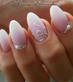Outstanding Are you looking for wedding nails for bride? See our collection full of wedding nails for bride and get inspired! The post Are you looking for wedding nails for bride? See our collection full of wedding … appeared first on Nails . Wedding Manicure, Wedding Nails For Bride, Bride Nails, Wedding Nails Design, Nail Wedding, Jamberry Wedding, Bling Wedding, Simple Bridal Nails, Elegant Bridal Nails