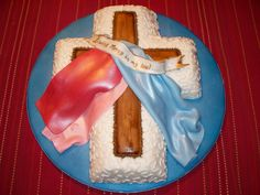 Divine Mercy Fondant Cake.  (Inspiration only, it was actually made for a First Reconciliation Celebration! Awesome idea!)