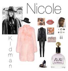 Nicole Kidman by ika23 on Polyvore featuring polyvore, мода, style, Altuzarra, Balmain, Christian Louboutin, Topshop, Avenue, Lime Crime, Dolce&Gabbana, fashion and clothing