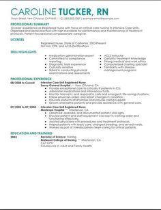 Registered Nurse Resume Sample  Study Anatomy