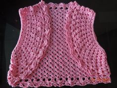 Pink crochet shrug that I made for my little cousin