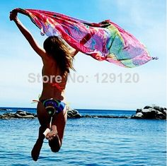 Desigual 2014 New  July Floral Super Large Colorful Scarf Pashmina Sun Block Beach Towel $11.99