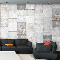 Amazing PURO TAPETE Realistische Steinoptik Tapete ohne Rapport und Versatz Kein sich wiederholendes Muster