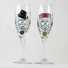 Day Of The Dead Art : Store : Hand Painted Glassware
