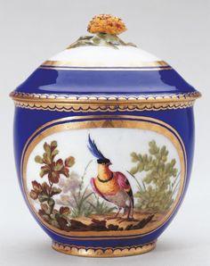 Sévres Porcelain (France) — 'Pot à sucre Bouret', sugar bowl and cover, 1763 : Royal Collection Trust, Her Majesty Queen Elizabeth II, UK (608x768)