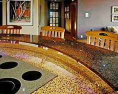 Custom Made Recycled Glass Countertops Can Be More Expensive Than Granite    But The Expense