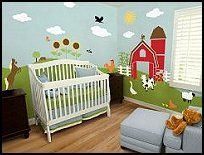 John Deere Farm Theme Bedrooms Tractor Beds Bedding Murals Country Animal Stick Ups Baby Barnyard Nursery