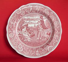 I love this!!! I have this hanging in my dining room :) Spode archive collection red transferware, Georgian series 'woodman'