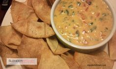Skinny Queso recipe for just 75 calories and 1 PointsPlus per 1/4 cup - perfect for game day