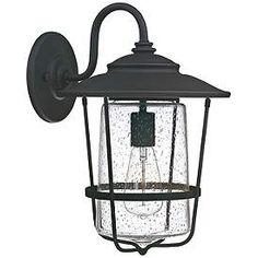 "Capital Creekside 16 1/4"" High Black Outdoor Wall Light Rustic Bathroom Lighting, Farmhouse Pendant Lighting, Farmhouse Kitchen Lighting, Cottage Lighting, Vintage Industrial Lighting, Outdoor Wall Lighting, Outdoor Walls, Coastal Light Fixtures, Outdoor Light Fixtures"