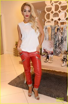 rita ora sexy catwoman in london 01 Rita Ora shows major attitude in red pants while attending the launch of the CJG collection by Chloe Green at TopShop Oxford Circus on Friday (March 28) in London,…